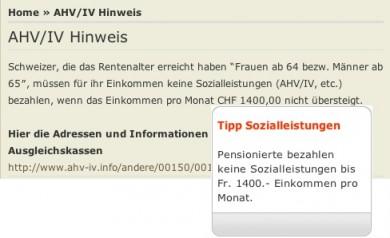 Der Geldspar-Tipp der besonderen Art bei rentenpower.ch und pensiojob.ch: AHV-Beiträge kassieren ohne selber welche bezahlen zu müssen...